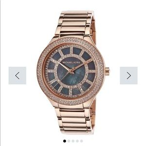 MK3397 Kerry Black Mother of Pearl Dial Rose Gold